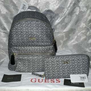 BNWT Authentic Guess Backpack and Wallet Set