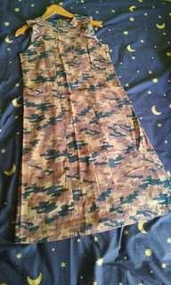 Dress tunik army