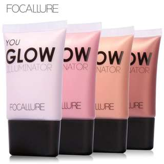 🦋FOCALLURE Face Make Up Gold Highlighter Liquid Glow Contour Brightener🦋