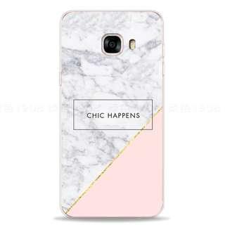 Samsung Phone Case 三星手機殼 C5/C7/C9 (pro) 大理石日韓手機軟殼