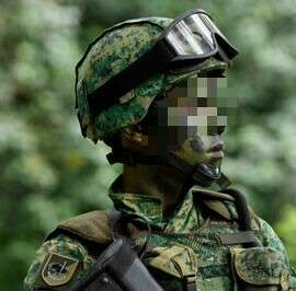 SAF Army Helmet with helmet cover