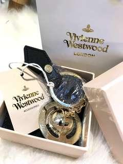 正品✨全新Vivienne Westwood 金色土星鎖匙扣