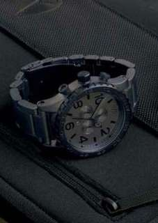 Nixon Chrono 51-30 Matt black watch