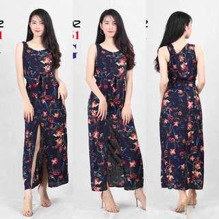 SLIT FLORAL DRESS #761 (DZ)