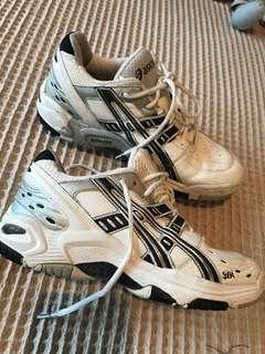 ASICS netball shoes worn for half a season