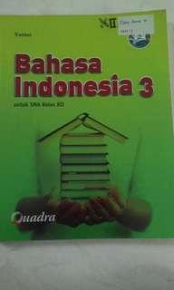 Bahasa Indonesia 3 untuk SMA kelas XII