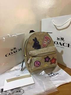 Coach mini patch backpack