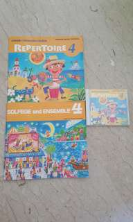 Yamaha jxc repertoire and solfege and ensemble 4 books and cd
