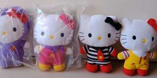 Hello Kitty Mcdonaldsland Stuff Toys Set only
