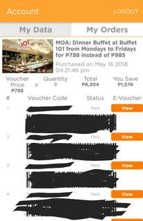 DINNER Buffet voucher @Buffet 101 MOA