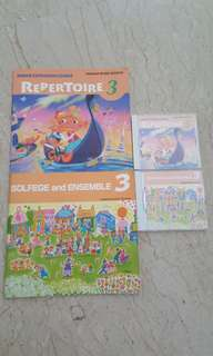 Yamaha jxc repertoire and solfege and ensemble 3 books and cds