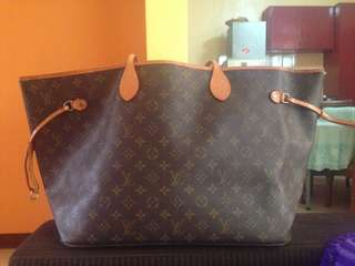 LV Neverfull with code