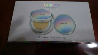 Brand New Laneige BB Cushion Pore Control SPF 50+ PA +++ No. 13 Ivory (with Refill)