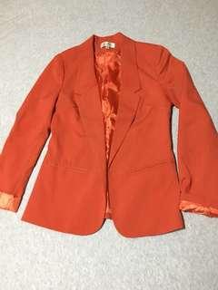 Burnt Orange Dress Jacket