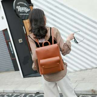 Korean Synthetic leather backpack