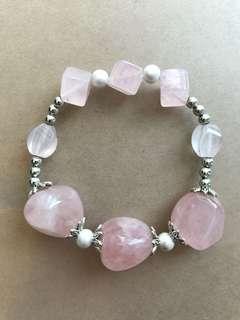 粉紅水晶手鏈