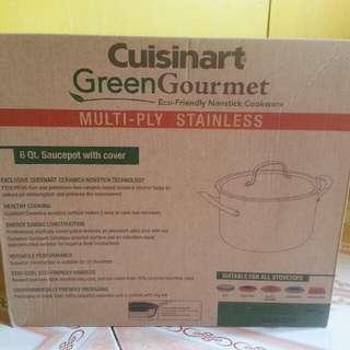 Cuisinart Green Gourmet Saucepot with cover