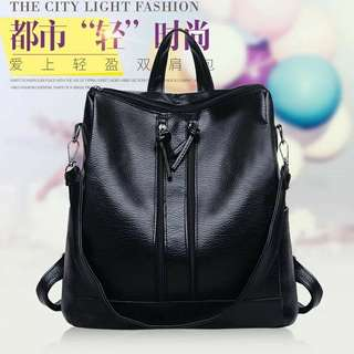Korean soft synthetic leather back pack