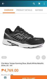 Fila Men's Tempo running shoes