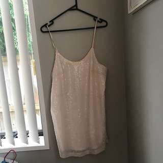 BABY PINK SEQUIN DRESS