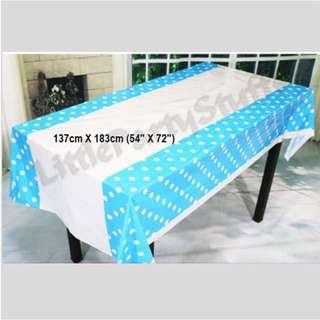 *SALES* Party Tablecloth (Polka Dot Blue)