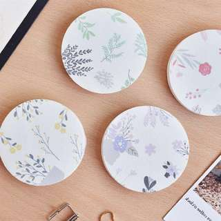 [IN] [SN] Circle Floral Sticky Note