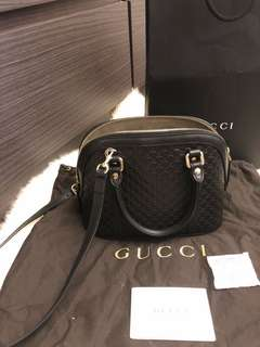 全新Gucci Micro Leather Cross Body Bag