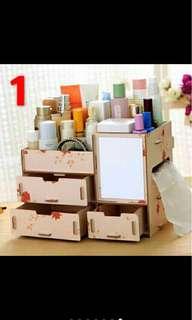 PRE- ORDER DIY wooden desktop, Make up box, Storage box