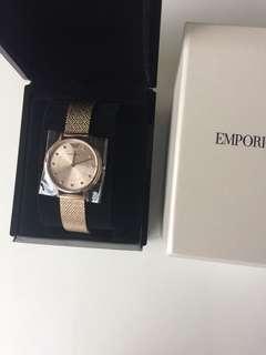 Emporio Armani rose gold watch woman