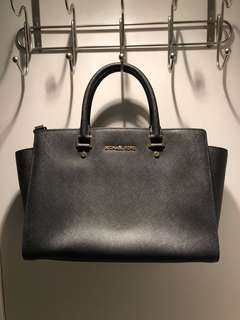 Michael Kors Selma Leather Satchel