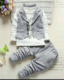 3 pcs Vest Long sleeve (6m-4years)