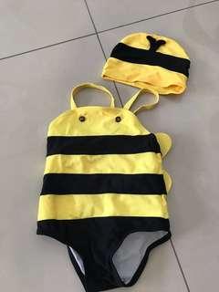 Preloved Bumblebee Swimsuit Set