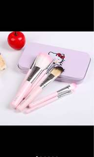 Pre-order 7pcs hello kitty make up brushes