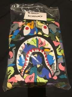 Bape shark multicolour zip hoodie
