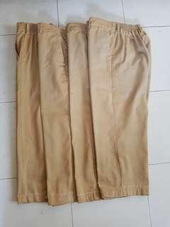 Bundle School Uniform Khaki 4 pcs (6-7 yo)