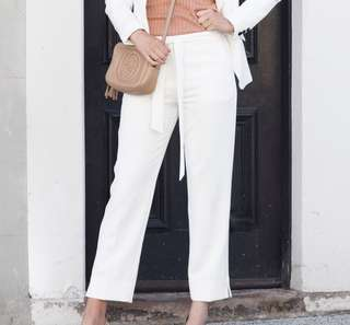 Forcast ivory white tailored pants size 12 (10)