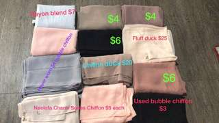 dUCk scarves and other chiffon/ bubble shawls