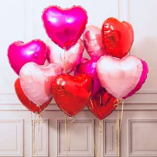 Party Balloon Heart Shape Red