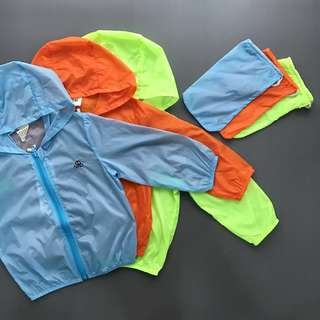 Kids Windbreaker UV Protective Jacket with Pouch