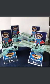 Father's Day superhero box card