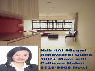 Dover 4A 3 bedrooms hdb flat for renrt