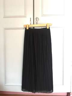 GTW PARTY Black Pleated Skirt size XL