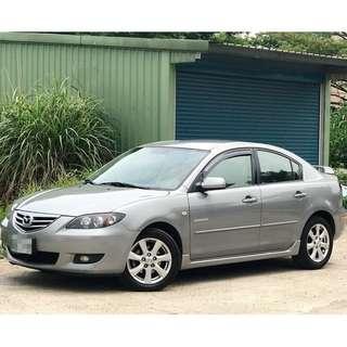 2006年出廠 MAZDA 3 1.6  純正一手車 淺灰色