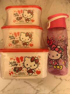 Hello Kitty lunchbox and bottle