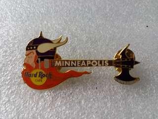 Hard Rock Cafe Pins ~ MINNEAPOLIS HOT & RARE 2002 VIKING GUITAR PIN!