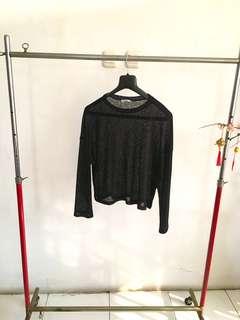 Long Sleeved Black Top