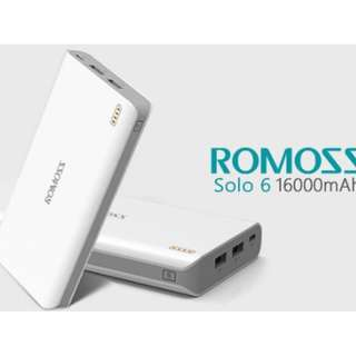 Brand New Powerbank Romoss Solo 6 16,000mAh