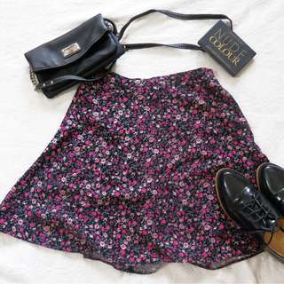 Miss Selfridge Branded Floral HW Flowy Skirt