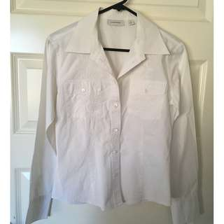 Country Road Size Small White Buttoned Shirt Top