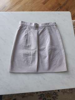repriced American apparel leather lavender skirt small